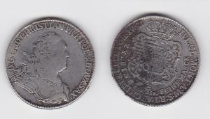 2/3 Taler Silber Sachsen-Albertinische Linie Friedrich Christian 1763 (129766)