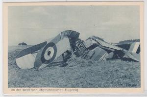 69320 Ak An der Westfront abgeschossenes Flugzeug um 1915