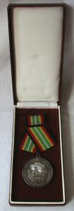Medaille für treue Dienste in der NVA nat.Volksarmee in Silber 900er Ag (101320)