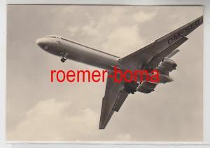 83016 Foto Ak Interflug Turbinenluftstrahlverkehrsflugzeug IL 62 von 1975