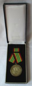 Medaille für treue Dienste in der NVA nat. Volksarmee in Gold im Etui (106132)
