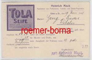 77489 Reklame Ak Ulm Heinrich Mack Seifenfabrik 1905