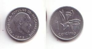 1 Centimos Aluminium Münze Mosambik Moçambique 1975 (114320)