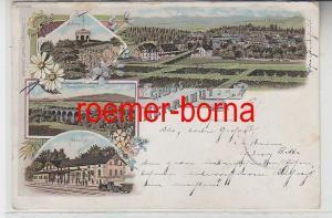 79006 Ak Lithographie Gruss aus Herrnhut Bahnhof, Hutberg usw. 1901