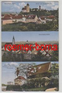 09182 Mehrbild Ak Kaufbeuren Partie am Friedensdenkmal, Blasiuskirche um 1910