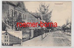 77681 Ak Cunnersdorf Straßenansicht und Möbelfabrik 1911