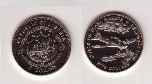 5 Dollar Nickel Münze Liberia 2000 Japans Angriff auf Pearl Harbour (105416)