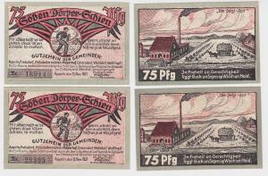 2 Banknoten Notgeld Gemeinden Appeln u.a. 15.11.1921 (122364)