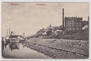 91874 Ak Graudenz Weichselseite 1915