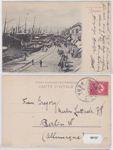 89107 Ak Le Port et les Quais Smyrne Izmir 1919
