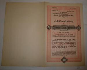 1000 Kronen Schuldverschreibung Anleihen der Stadtgemeinde Graz 1920 (126880)