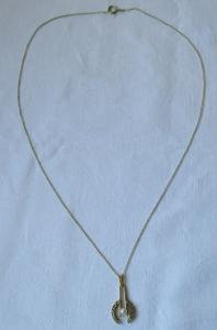 Charmante Kette aus 585er Gold mit Perlenanhänger (120099)
