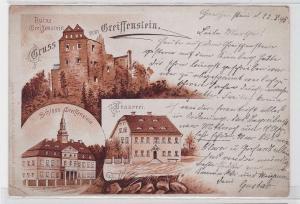 36899 Vorläufer AK Gruss vom Greiffenstein - Ruine, Schloss & Brauerei 1895