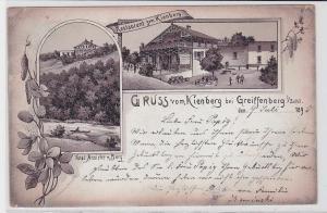 77029 Vorläufer AK Gruss vom Kienberg bei Greiffenberg i.Schl. - Restaurant 1895