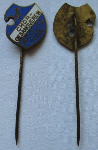 Emailliertes Abzeichen Chor Gesangverein Apolda Thüringen um 1930 (112411)