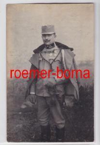 78278 Foto Ak K & K Offizier mit Orden, Offiziersdegen und Portepee um 1916