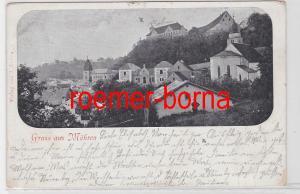 30196 Ak Gruss aus Möhren 1909