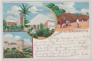 87839 AK Gruss aus Bagamoyo - Gouvernements-Messe, Boma, Sraßenansicht