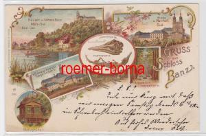 84229 Ak Lithografie Gruss aus Schloss Banz bei Bamberg 1899
