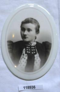 Hübsches Porzellan Medaillon um 1900 (118936)