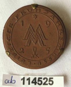 Seltenes Porzellan Abzeichen Leipziger Frühjahrsmesse 1925 (114525)