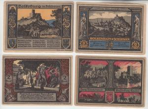 4 x Banknoten Notgeld Bolkenhain in Schlesien  (111689)