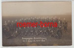 40083 Foto Ak Kompagnie Besichtigung der 7.Komp.I.R.144 1913