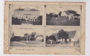 86400 AK Gruss aus Leippa Oberschlesien - Kirche, Denkmal, Pfarrhaus, Mühle