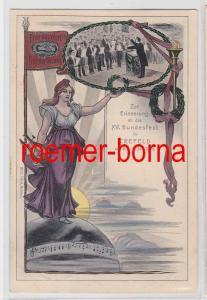 81449 Künstler Ak Zur Erinnerung a.d. XV. Sänger-Bundesfest in Crefeld Juli 1906