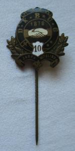 Emailliertes Abzeichen 10 Jahre Mitglied D.K.B.U.G. um 1910 (113199)