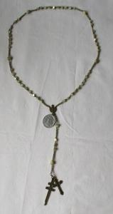 Wunderschöner alter Rosenkranz Kette mit Perlen und Kreuz 1933 (121792)