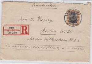 74495 seltener Einschreiben Brief nach Berlin 1908