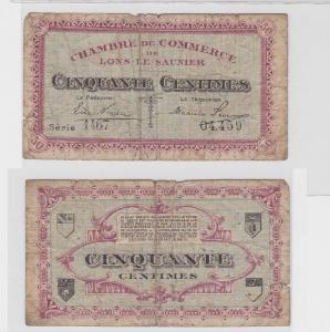 5 Centimes Banknote Frankreich Chambre de Commerce Lons le Saunier (119153)