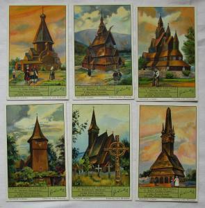 Liebigbilder Serie Nr. 1098 Kirchenbauten aus Holz 1937 (3/125675)