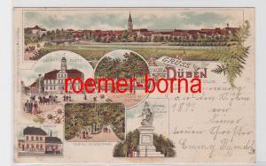80571 Ak Lithografie Gruss aus Düben a.d. Mulde um 1900