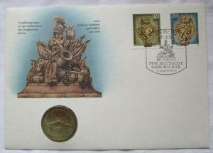 118026 Numisbrief Museum für deutsche Geschichte mit 5 Mark Münze DDR von 1990