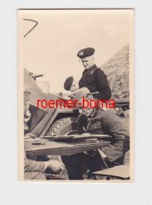 51149 Foto General der Panzertruppe am Kartentisch im 2.Weltkrieg
