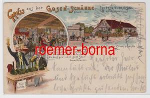 80805 Ak Lithografie Gruss aus der Gosen-Schänke Leipzig-Eutritzsch 1907