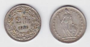 2 Franken Silber Münze Schweiz 1946 B (117247)