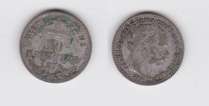 10 Kreuzer Krajczar Silber Münze Ungarn 1871 GYF Karlsburg (117126)