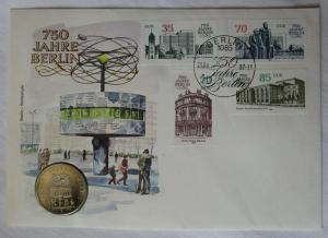 DDR Numisbrief mit 5 Mark 750 Jahre Berlin Alexanderplatz 1987 (115254)