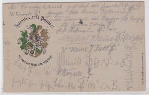 86984 Studentika AK Mittweida - Saxonia sei's Panier! 1921