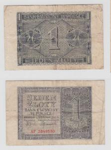 1 Zloty Banknote Polen 1941 (117851)