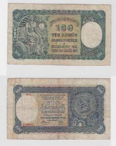 100 Kronen Banknote Slowakei 7.Oktober 1940 (118352)