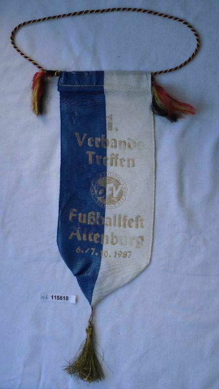Seltener DDR Wimpel 1.Verbandstreffen Fussballfest Altenburg 1987(115518) 0