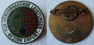 Altes Abzeichen NAW-Nationales Aufbauwerk Erfurt 1958 Bronze (115377)