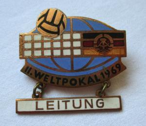 Seltenes DDR Abzeichen Volleyball II.Weltpokal 1969 Leitung (117474)