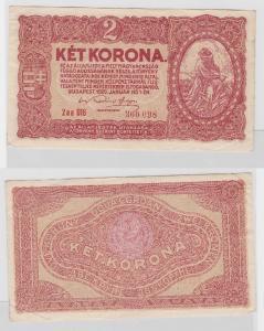 2 Kronen Banknote Ungarn 1.Januar 1920 (118185)