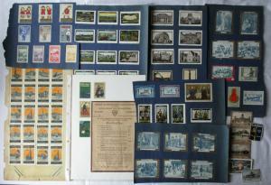 Alte Sammlung mit 100 Reklamemarken Vignetten meist Deutschland um 1920 (125788)