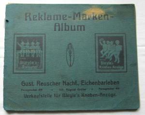 Alte Sammlung mit 66 Reklamemarken Vignetten meist Deutschland um 1920 (126307)